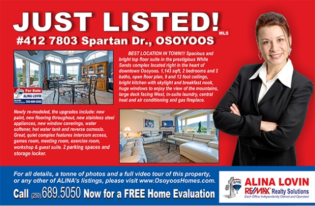 Just Listed - 412 White Sands.cdr