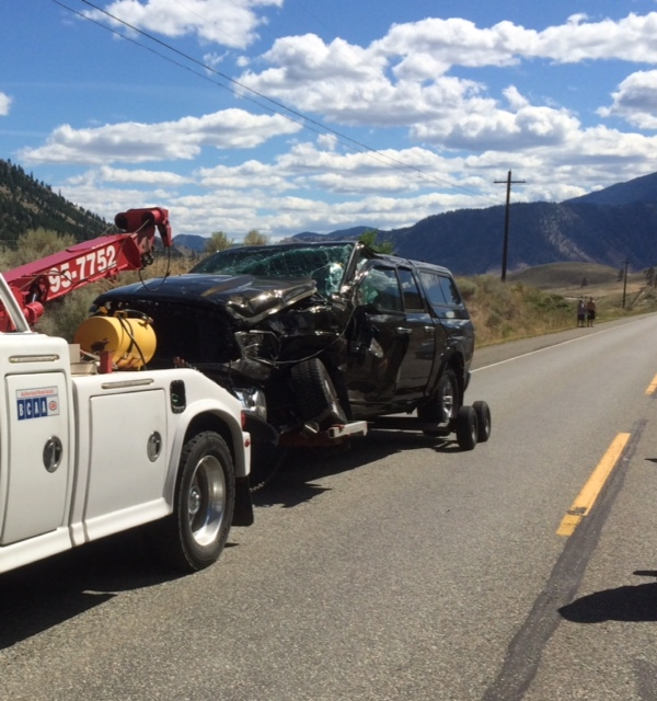 RCMP report on Hwy 3 accident – luckily no serious injury