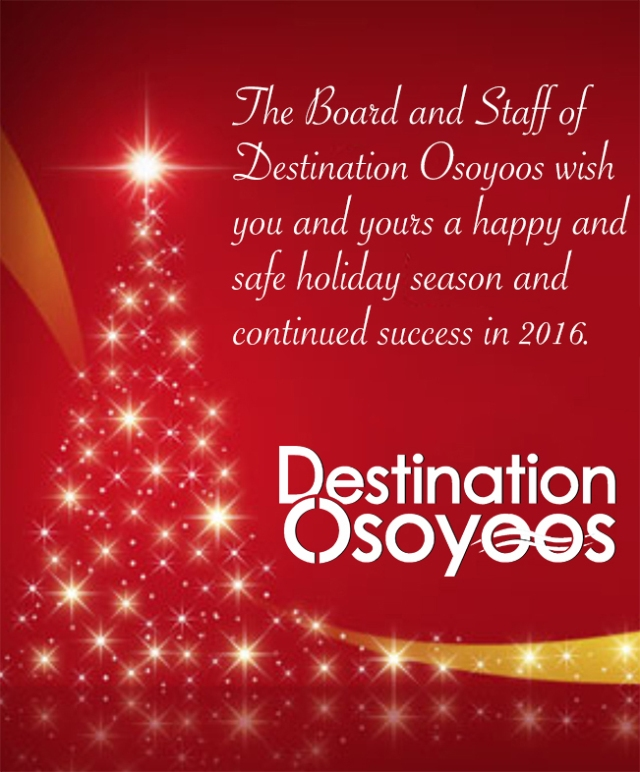 Destination Osoyoos Christmas Poster for ODN 2016